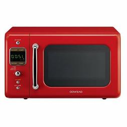 New DaeWoo Retro style 0.7 CuFt 700W Red Microwave KOR-7LRE