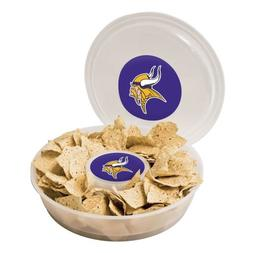 NFL Minnesota Vikings Plastic Chip and Dip Container