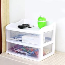 Office Table Storage Box Plastic Multifunction Drawer Style
