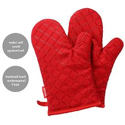 Aicok Oven Mitt, Oven Mitts for Women with Heat Resistant to