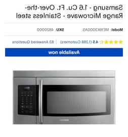 Samsung over the range microwave. Brand new, never used. Mod