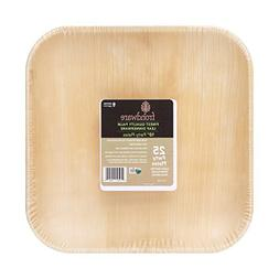 """Frondware 10"""" Palm Leaf Square Disposable Plates - Pack of 2"""
