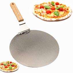 Yocome 10 Inch Pizza Peel Paddle for Grill with Wood Handle