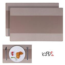 Placemats, EYGOO 2pcs Silicone Table Mats Reversible Pattern