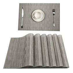 U'Artlines Set of 6 Placemats,Placemats for Dining Table,Hea