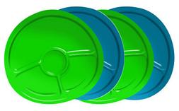 2x Nuk Kids Plastic Divided Plates Microwave 2ct per pack Di