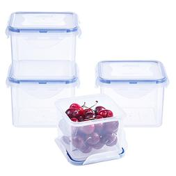 LEXINGWARE 3-Cup Plastic Food Storage Containers Set BPA Fre
