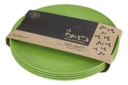 "EVO Sustainable Goods 8"" Plate, Set of Four, Green"