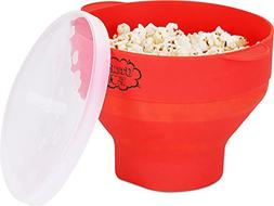 Utopia Kitchen Popcorn Popper - Microwaveable - Collapsible