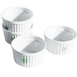 Cinf Porcelain Ramekin Color 8 oz. Pudding Bowls Dishes Cup