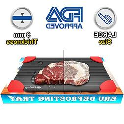 ERU Rapid Thaw Defrosting Tray - Largest Size 3mm Thickness