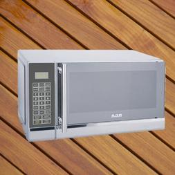 RCA .7 Cubic ft Stainless Steel Microwave Cooks By Weight An