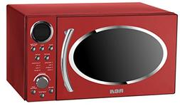 RCA RMW987-RED 0.9 cu.ft Retro Microwave Red Speed Cooking M