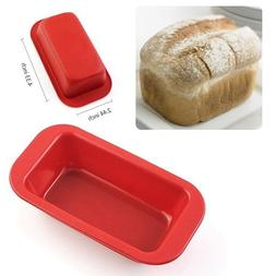 Pack of 6Pcs Small Rectangle Silicone Mold Non Stick Bread L