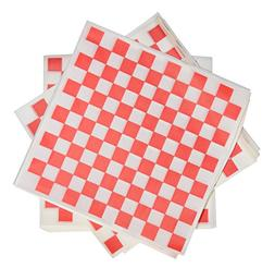 1000 Sheets of Red and White Checkered, Grease - Resistant,