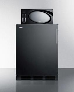 Summit Refrigerator/Microwave Stacked Combo with Single Plug