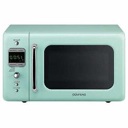 Daewoo Retro 0.7 CuFt 700W Microwave KOR-7LRE, Light Green