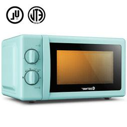 Retro Countertop Microwave Oven 0.7 Cubic Feet 700W Rotary F