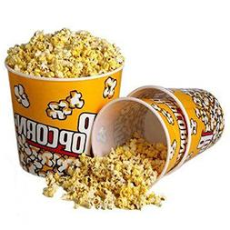 Novelty Place Retro Style Plastic Popcorn Containers for Mov