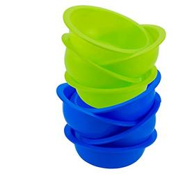 Reusable Plastic Cereal Bowls Soup Colors Microwave Safe Rou