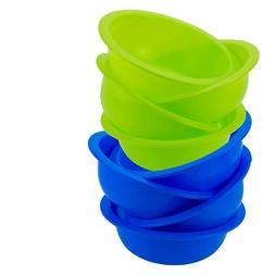 Reusable Plastic Cereal Bowls Soup Colors  Microwave Safe Ro