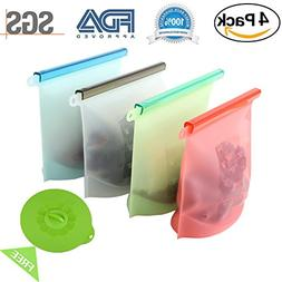 Reusable Silicone Food Storage Bag Food Grade Vegetable Stor