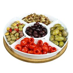 Elama Signature Lazy Susan Appetizer and Condiment Server Se