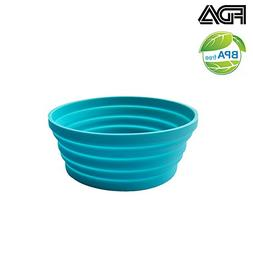 Silicone Expandable Collapsible Bowl for Travel Camping Hiki