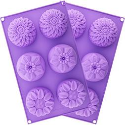 Silicone Flower Soap Mold 6 cavity  | Silicone soap molds |
