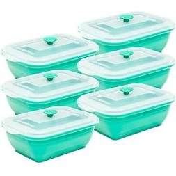 Collapse-it Silicone Food Storage Containers, 6-piece Rectan