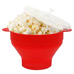 HIPPIH Silicone Microwave Popcorn Popper Collapsible Popcorn