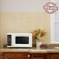 small 0 7 cu ft white microwave