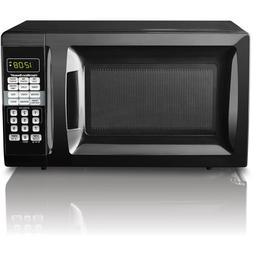 Hamilton Beach 0.7 cu ft Microwave Oven Black Red White