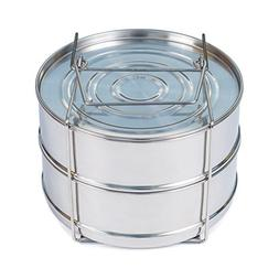 Stackable Stainless Steel Steamer Insert Pans with Sling - I