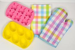 Spring Kitchen Bakers 4 Piece Bundle with Two Silicone Bakin