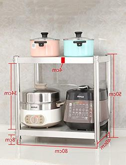 Storage Racks Stainless Steel Microwave Stand For Countertop