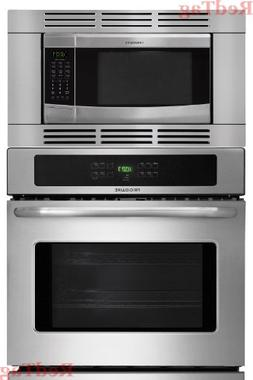 "Frigidaire Stainless Steel 27"" 3Piece Wall Oven Microwave Co"