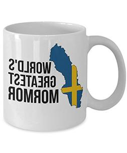 Sweden Coffee Mug - Novelty Mormor Swedish Flag Tea Cup For