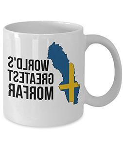 Sweden Coffee Mug - Novelty Morfar Swedish Flag Tea Cup For