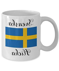 Swedish Coffee Mug - Novelty Swedish Flag Tea Cup For Swedes
