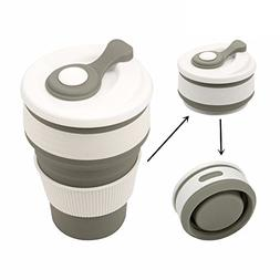 IDS Home Tea Cup Portable Collapsible Space-Saving Silicone