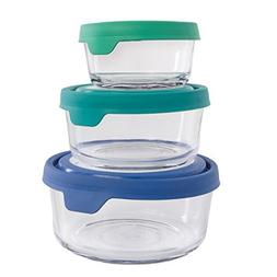 Anchor Hocking  Trueseal Glass Storage Containers With Lids