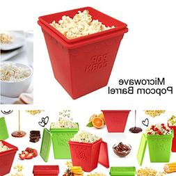 U&ME Microwave Silicone Popcorn Maker Food Grade squared Bow