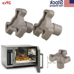 US 2Pcs General Microwave oven Turntable Couplers Rollers Ax