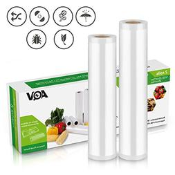 "Vacuum Sealer Rolls, Sous Vide Food Bags, Two , Large 11"" x"