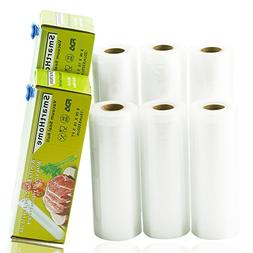 "Smarthome Vacuum Sealer Rolls with Cutter Box 6 Pack 6"" x16."