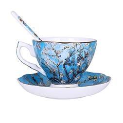Vincent Willem van Gogh Bone China Tea Cup and Saucer Set Wi