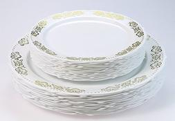 """""""OCCASIONS"""" 240 PACK Vintage Party Disposable Plastic Plates"""