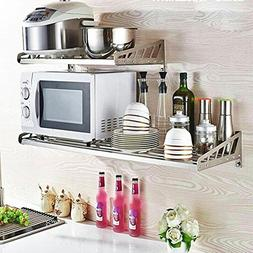 WENZHE Kitchen Storage Rack Spice Cooker Shelf Wall Mounted