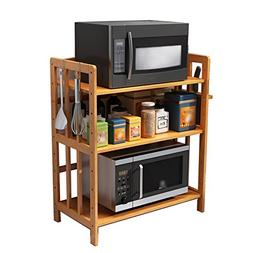 WENZHE Storage Shelves Solid Wood Microwave Oven Rack Storag
